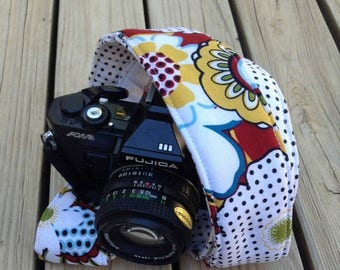 SummerSale Monogramming Included Extra Long Camera Strap for DSL camera Fun Funky Print