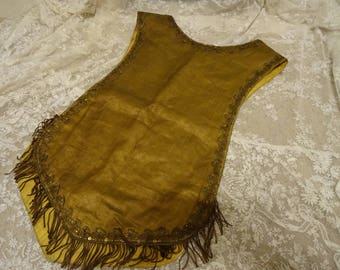 AWESOME Vintage Odd Fellows Masonic  Shabby Collar Vest Ceremonial