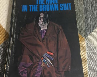 Vintage 1966 The Man in The Brown Suit Agatha Christie Novel