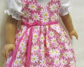 """Pink Daisy Jumper and Blouse for 18"""" American Girl Doll"""