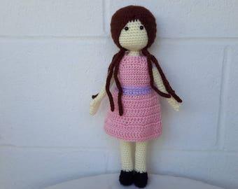 Baby Doll Crochet Doll Toy Doll Amigurumi Doll Soft Baby Doll Plush Doll Fabric doll Crocheted Doll Knitted doll Soft dress up doll toy