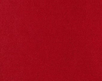 "Red Acrylic Craft Felt by the Yard - 1/16"" Thick, Available Plain (72"" Wide) or with a Peel-and-Stick Adhesive Backing (36"" Wide)"