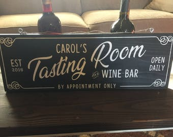 Custom Tasting Room Sign
