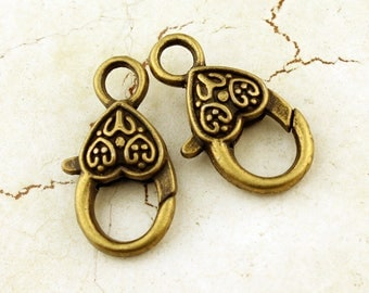 Antique Brass 25mm Lobster Clasp (2)