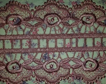 Embroidered lace...always great for crazy quilts...or any sewing project.