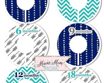 HUGE SALE Custom Closet Dividers Organizers Baby Shower Gift Nursery Decor Navy Teal Gray Arrow Chevron Tribal Aztec Clothes