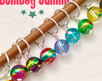knitting stitch markers for knitting ringos knitting notions gifts for her  rainbow stitch markers - BOMBAY SUMMER