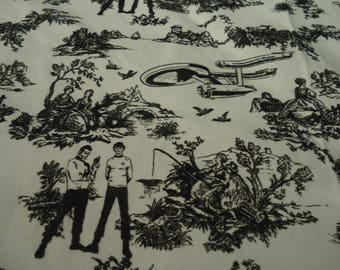 Star Trek Toile Mens Panel Shirt Made to Order, Choose Men's small up to 6XL