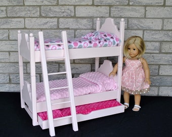 """Double Stacker Dollbed with Pullout for 18"""" Dolls"""