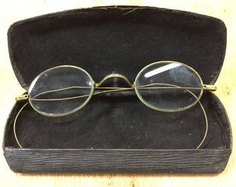 Oval Wire Rim Men's Vintage Eyeglasses Made in USA