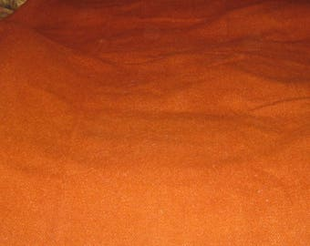 Antique Hand Woven Wool Blanket, Rusty Orange Colour