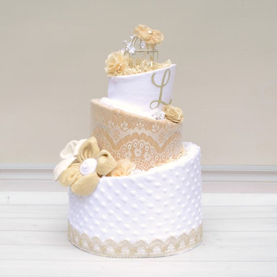 Vintage Lace Baby Cake