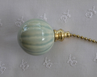Celadon Fluted Fan Pull - Nickel or Brass