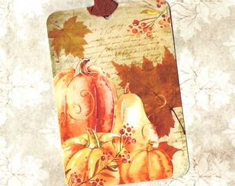 Tags, Vintage Style,  Autumn Tags, Pumpkin, Pumpkin Tags