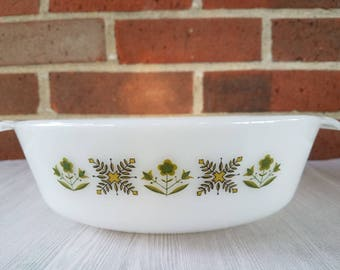Vintage King Anchor Hocking 2 QT Meadow Green Casserole Dish