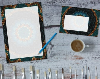 Celtic Night Mandala 'print your own' letter writing paper set