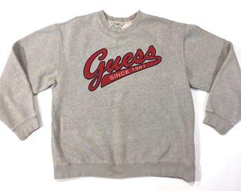 Guess USA spellout script sweatshirt