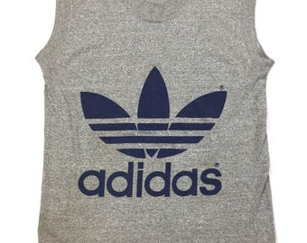Adidas gray muscle shirt