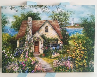 Cottage Seaside Garden Print, Cottage Print, Country Cottage Art, Cottage  Decor, Cottage
