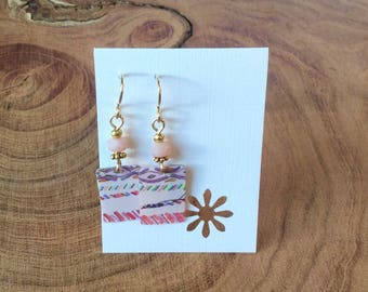 Aztec Starbucks gift card earrings