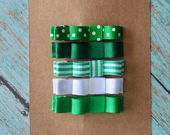 Green Clippie Set - Set of 5 Clippies