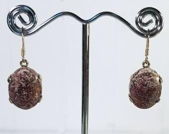 Handmade Sterling Campbellite Earrings - Rare American Gemstone