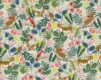 Cotton + Steel - Rifle Paper Co. - Menagerie - Jungle in Natural