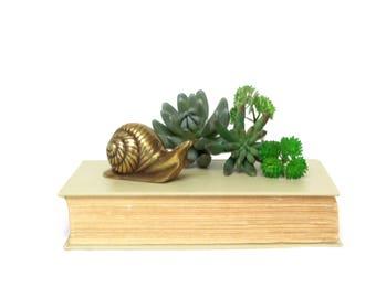 Vintage Brass Snail Figurine