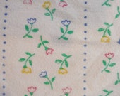 FLANNEL FABRIC, Floral, Stripes, Blanket Material, Crafts, Home Decor, Quilting, DlY, Patchwork, DiY,