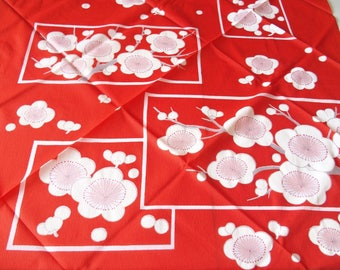 Plum Blossom Design Furoshiki Wrapping Cloth Vintage From Japan