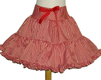 Fluffy Gingham Square Dance Twirly Skirt, you choose gingham colors Baby Infant Toddler Girls also available for women.