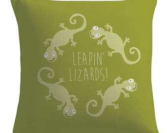 Annie pillow - Musical throw pillow - Lizard - pillow decorative square throw pillow cushion cover