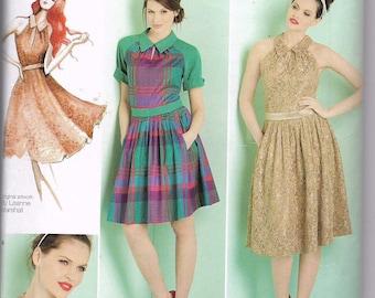 Uncut, Misses Size 4-12, Sewing Pattern, Simplicity 1755, Misses Dress, Leanne Marshall Designer, Small Medium, Woman, Teen, Sleeveless,