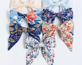 Hair Bow, Sailor Bow, Bow Headband, Headband, Fabric Hair Bow, Hair Clip, Baby Bow, Nylon Headband, Alligator Clip - Les Fleur Collection