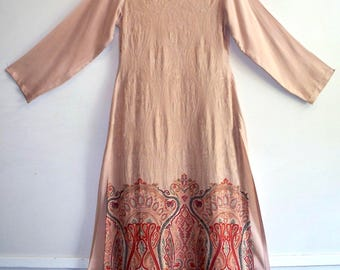 bohemian ethnic embroidered paisley tunic kurta salwar kameez dress