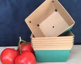 Vintage cardboard baskets berry fruit garden containers new old stock studio organization