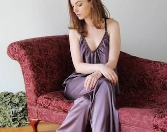 silk pajama pants - ALICE charmeuse with spandex bridal range - made to order