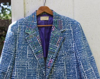 Sandwich Isles Tiki Hawaiian Jacket Rockability Sports Coat 1960s Resort Wear VINTAGE by Plantdreaming