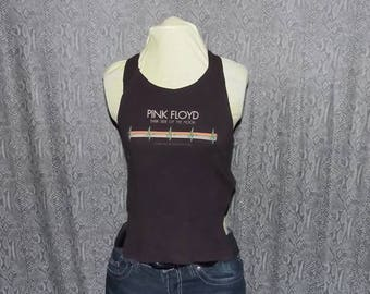 Ladies Size Small, Pink Floyd Halter Top, Rocker Fashion, Dark Side Of The Moon, Tie Back Juniors Halter Top, Rock Concert Souvenir T Shirt