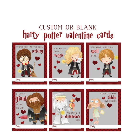 Harry Potter Inspired Valentines Day Cards Wizards Love