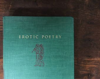 Erotic Poetry Book, Vintage Love Poems, Erotic Poems, Poetry Anthology, Erotic Poem Collection, Gift for Writer, Green