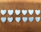 Reserved *** 12 Heart stones with silver ring