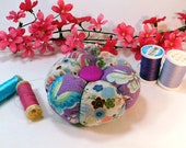 Pincushion, Tomato style, Asian Inspired Fabric- Ready to Ship