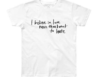 Believe In Love Small People Shirt in White
