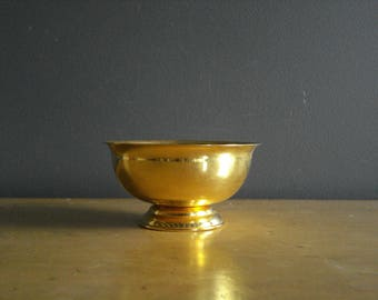 Spot-O-Gold - Small Goldplated Bowl or Tiny Planter - Gold Plated Gold-toned Brass Look Bowl