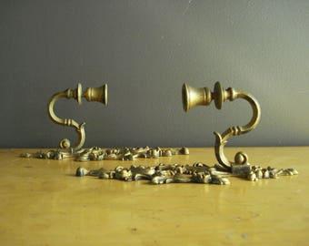 Swirl-La-La - Vintage Candle Sconces - Ornate Wall Candleholders