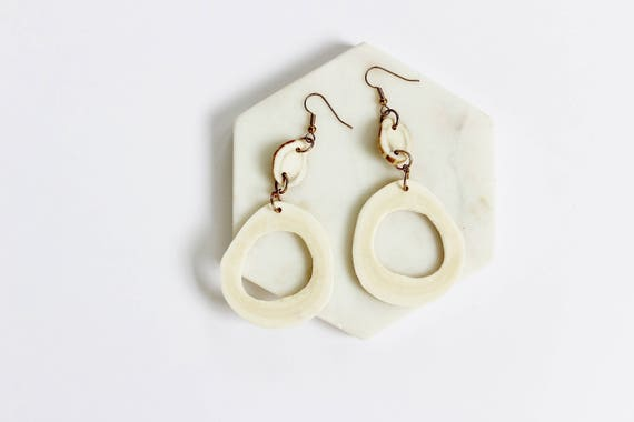 Antler & Bone Drop Earrings