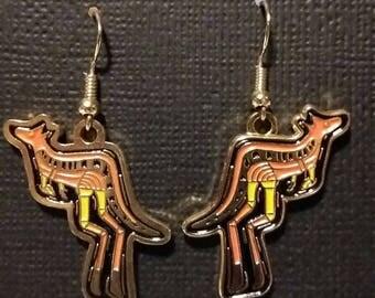Kangaroo Earrings