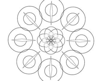 downloadable adult coloring page generative mandala math science chemistry art book color - Chemistry Coloring Book