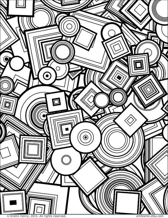 Downloadable Adult Coloring Page: Generative Circles and